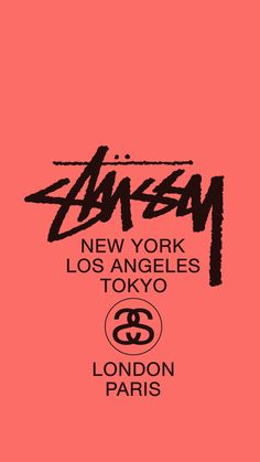 Stussy coral pink iphon6 wallpaper