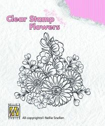 """Clear Stamp """"flowers"""" FLO010"""