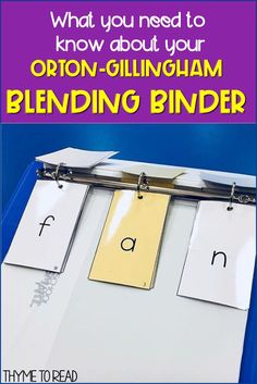 Things you need to know about your Orton-Gillingham Phoneme Grapheme Cards. Learn why keeping your cards in a Blending Binder will make your three part drill a breeze to differentiate for your small reading groups Dyslexia Teaching, Teaching Phonics, Teaching Reading, Reading Lessons, Reading Activities, Guided Reading, Physical Activities, Reading Strategies, Reading Groups