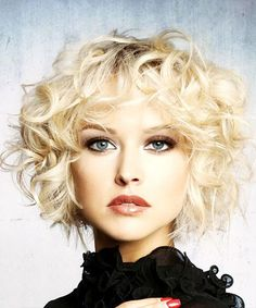 Curly Formal Shag Hairstyle with Layered Bangs - Light Platinum Blonde Hair Color Short Curly Formal Shag Hairstyle - Light Blonde (Platinum)Short Curly Formal Shag Hairstyle - Light Blonde (Platinum) Short Blonde Curly Hair, Curly Shag Haircut, Short Curly Haircuts, Curly Hair With Bangs, Curly Hair Cuts, Hairstyles With Bangs, Short Hair Cuts, Curly Hair Styles, Haircut Short