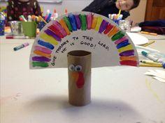Sunday school thanksgiving craft - Thankful Turkey