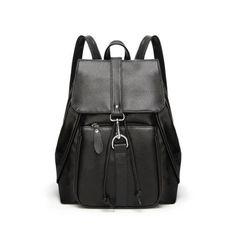 BOSTANTEN Sac /à Dos en Cuir v/éritable pour Femme Casual Daypack d/écontract/é School Coll/ège Sac de Voyage Noir