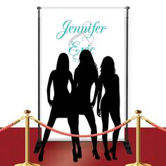 The day has finally arrived. All you need to complete that superstar feeling is our Custom Red Carpet Fancy Banner! Place one of these at the entrance to your reception and you will surely feel like a star when they announce you as you walk in! Our Custom Red Carpet Fancy Banner is designed with the name of the bride and groom imprinted over a ghosted ampersand on a durable white poly oxford canvas. Pick from one of our many different font colors and choose either large or small banner. The…