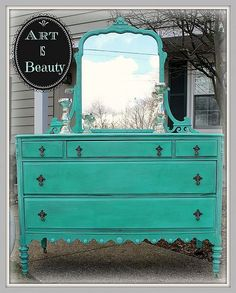 recycled furniture redone very nicely..
