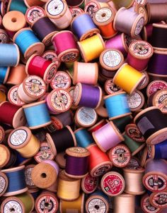 Cotton reels at Newark Antique Fair