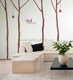Vintage Birch Tree 4 Wall Decals– WallDecalMall.com
