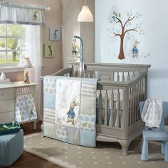 Lambs & Ivy 5 Piece Peter Rabbit Baby Nursery Crib Bedding Set w/ Bumper Hop into a brand new adventure with our favorite little bunny in the blue jacket, Peter Rabbit™. This beloved classic character