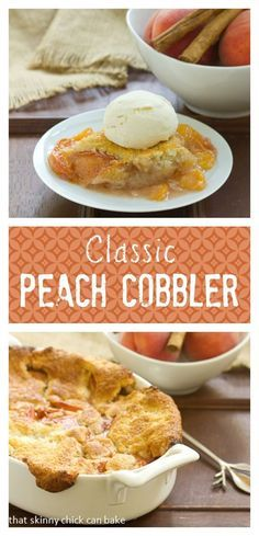 Classic Peach Cobbler   A timeless dessert that's perfect with ripe summer peaches @lizzydo