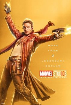Peter Quill (Star Lord) More Than A Legendary Outlaw Character posters for Marvel Studios' anniversary Marvel Avengers, Marvel Fan, Marvel Heroes, Avengers Memes, Star Lord, Poster Marvel, Marvel Movie Posters, Avengers Poster, Films Marvel