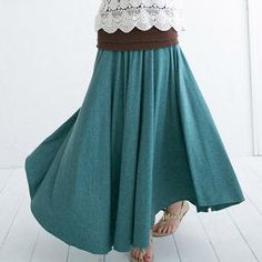 Buy 'CatWorld – Banded-Waist Maxi Skirt' with Free International Shipping at YesStyle.com. Browse and shop for thousands of Asian fashion items from Taiwan and more!