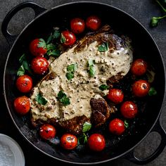 Easy creamy peppercorn sauce is perfect over juicy steak, grilled chicken or pan-seared pork chops for easy, delicious dinners. Steak Recipes, Sauce Recipes, Chicken Recipes, Cooking Recipes, Creamy Peppercorn Sauce, Easy Dinner Recipes, Easy Meals, Dinner Ideas, Juicy Steak