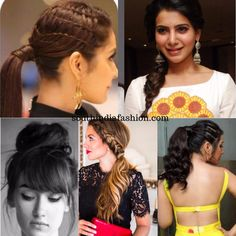 So here are some summer hairstyles that are trendy, easy to sort and of course does not make you feel the heat. South Indian Hairstyle, Indian Hairstyles, Celebrity Hairstyles, Easy Bun Hairstyles, Summer Hairstyles, Traditional Hairstyle, Traditional Outfits, Bollywood Hairstyles, Hair Up Styles