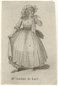 Dorothy Jordan as Lucy in 'The Virgin Unmasked,' published 1787, line engraving (NPG)