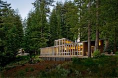 La maison en bois vue d'extérieur