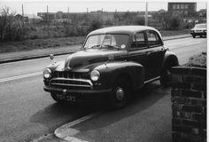 Our Morris Oxford restored. Morris Oxford, Morris Minor, First Car, Jaguar, Monochrome, Transportation, Classic Cars, Nostalgia