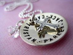 mommy necklace with cross