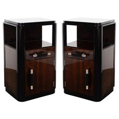 Pair of Art Deco End Tables/Nightstands by Donald Deskey