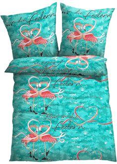 Linge de lit Flamingo, bpc living, multicolore