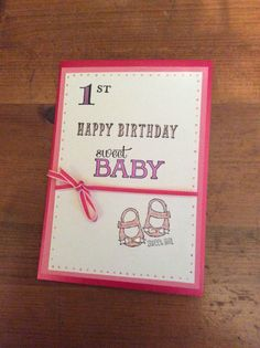 Stampin' Up! Baby we've grown. First birthday card. amethystarcrafting.blogspot.com for more ideas