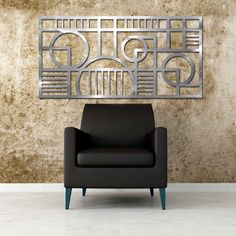 Art Deco geometric wall Sculpture by Moda Industria