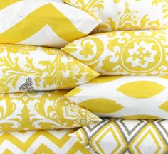 YELLOW Pillows decorative throw covers by DeliciousPillows, $30.00