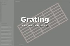 Blender Addon List: Addon: Grating Generator