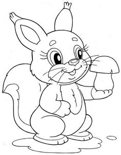 Squirrel coloring page