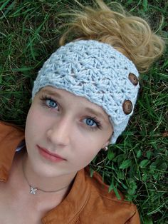 Headband/Earwarmer CROCHET PATTERN Jane's Tangled by TangledHappy, $2.95 love how fat it is with the buttons!