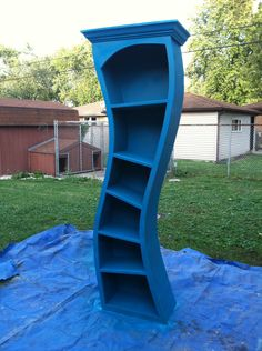 Dr. Suess style bookcase. $300.00, via Etsy.