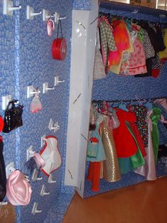 Tiny Zippers - How to Make a Doll Closet