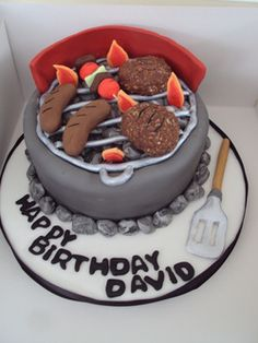 BBQ cake sausages, burgers and kebab Birthday Cake For Husband, Adult Birthday Cakes, Cake Cookies, Cupcakes, Bbq Cake, Fathers Day Cake, Awesome Cakes, Grill, Sausages