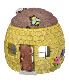 Loving this Beehive Forest Toad House Garden Décor on #zulily! #zulilyfinds