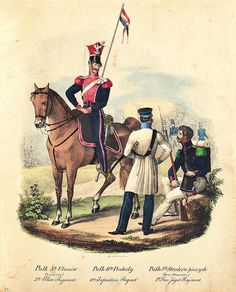 """.......... ZAPOMNIANA BIBLIOTEKA ..........: """"Umundurowanie Wojska Polskiego w latach 1830 – 1831"""" Military History, Vogue, War, Polish, Pictures, Revolution, Russia, November, Dibujo"""