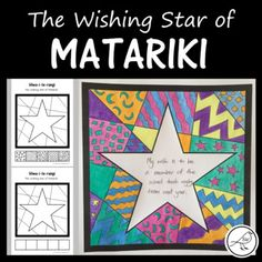 A creative classroom activity for celebrating Matariki (the Māori New Year). Hiwa-i-te-rangi is one of the 9 stars in the Matariki star cluster. It is known as the & star& This star has a connection to our hopes, dreams and aspirations for the year Childcare Activities, Art Activities, Classroom Activities, Primary Teaching, Teaching Art, Teaching Resources, Early Childhood Activities, Food Art For Kids, Maori Art