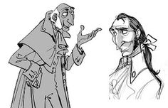 Early Character Design for Tangled. Guess he got cut. Illustration Story, Illustration Sketches, Character Illustration, Character Model Sheet, Character Poses, Character Art, Animation Storyboard, Storyboard Artist, Character Design Animation