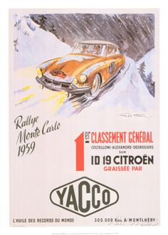 Rallye Monte Carlo, 1959 Art by Geo Ham at AllPosters.com
