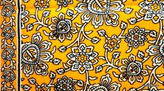 Indian Fabric Cotton fabric Block Print in Mustard by DesiFabrics
