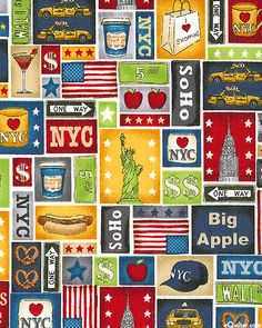 NYC - All About The Big Apple - Multi/Maize Gold