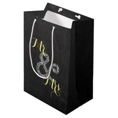 Chalkboard Autumn Wedding Mr & Mrs Party Gift Bag - rustic country gifts style ideas diy