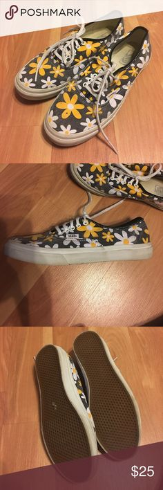Daisy print Vans Cute, comfy Daisy print Vans! Worn maybe 3 times and in great condition, but I'll clean them again before I ship! Vans Shoes Sneakers
