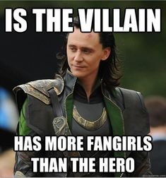 """Loki (played by Tom Hiddleston) from the movie, """"The Avengers"""""""