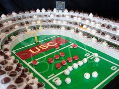usc cake, groom's cake ideas at wedmepretty.com