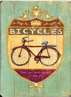 Bicycles Sign: The Southern Home ~ Home Furnishings, Shabby Chic, French Country & Cottage Decor