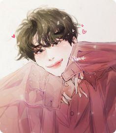Kpop Drawings, Art Drawings, Boy Idols, Boy Illustration, My Sunshine, Art Inspo, Anime Art, Fan Art, Colours