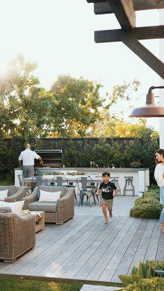 Backyard Pool Designs, Backyard Patio, Outdoor Landscaping, Outdoor Gardens, Backyard Playground, Outdoor Kitchen Design, Porches, Outdoor Living, Exterior
