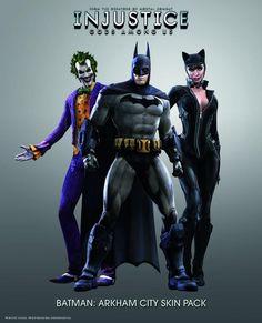Injustice Gods Among Us Arkham City Skin Pack DLC (Playstation 3 Exclusive Downloadable Content, Batman, Joker, Catwoman, PS3)