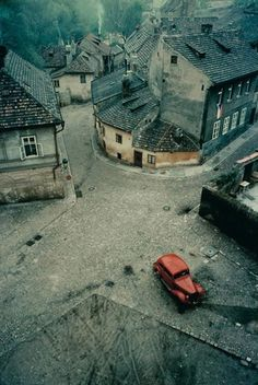 red car in prague, 1967 / franco fontana Abandoned Mansions, Abandoned Buildings, Abandoned Places, Franco Fontana, Haunted Places, Ghost Towns, Oh The Places You'll Go, Belle Photo, Photos