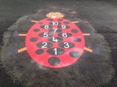 ladybird playground marking installed at paradykes primary school in Edinburgh