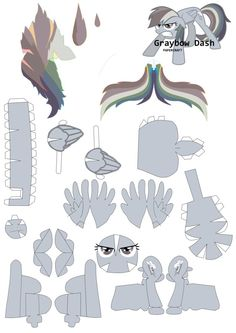 Graybow Dash Papercraft pattern by RainyHooves