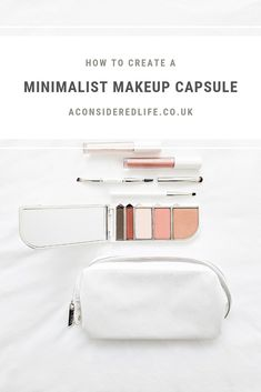 Practical tips for creating a minimal makeup collection with product recommendations. Minimalist Makeup, Minimalist Beauty, Minimalist Lifestyle, Makeup Collection Storage, Day Makeup, Makeup Tools, Beauty Makeup, Two Faced Mascara, Beauty Tips